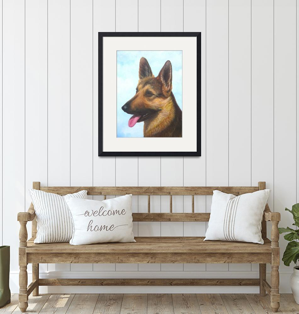 """German Shepherd Dog""  (2010) by vivianeagleson"