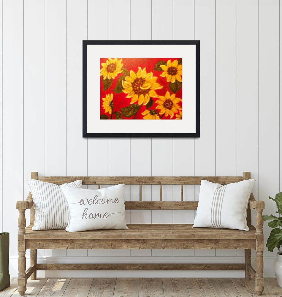 """""""sunflowers""""  (2010) by friddleart"""