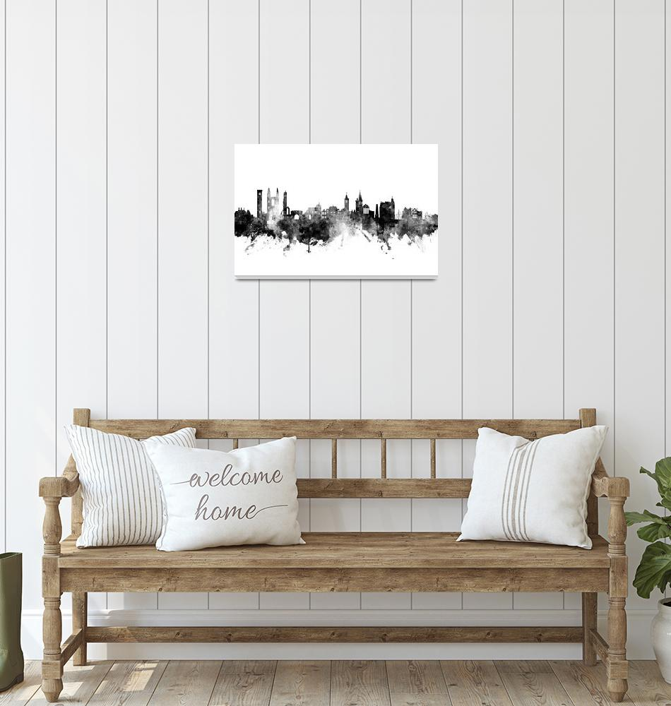 """St Andrews Scotland Skyline""  (2018) by ModernArtPrints"
