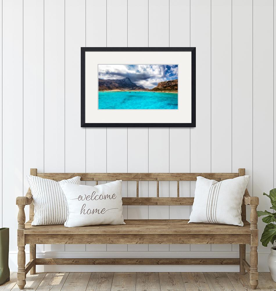 """""""View of Balos from Gramvousa Island""""  (2018) by ClaireSchreuder"""