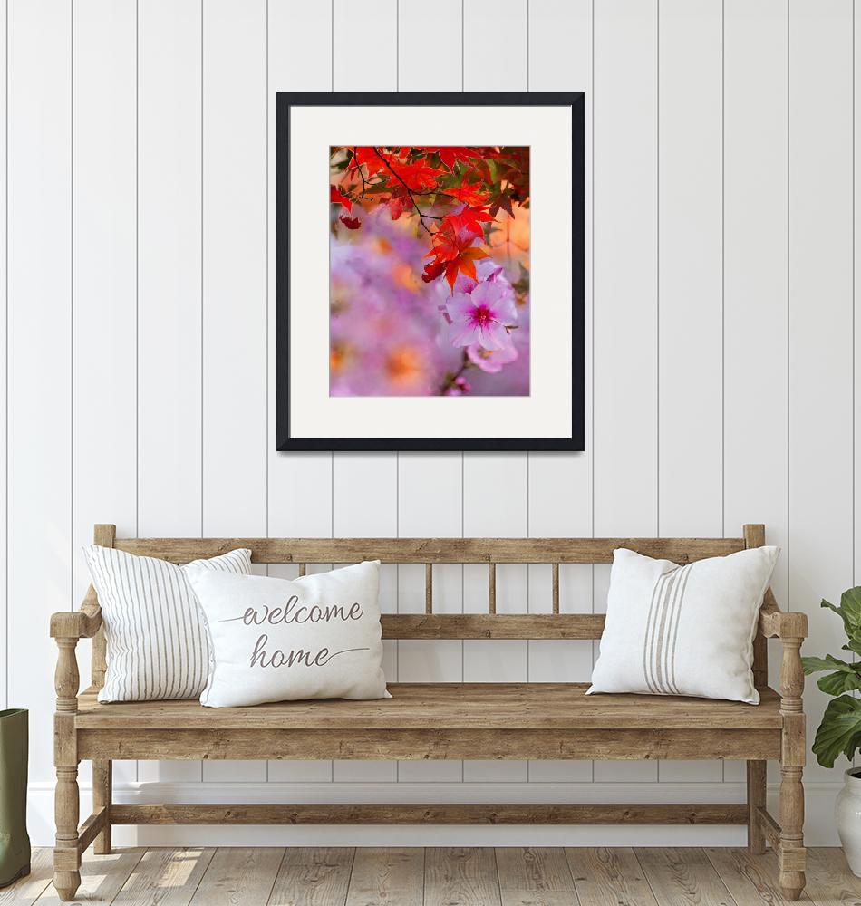 """""""Autumn and Spring""""  (2019) by evelyncurryart"""