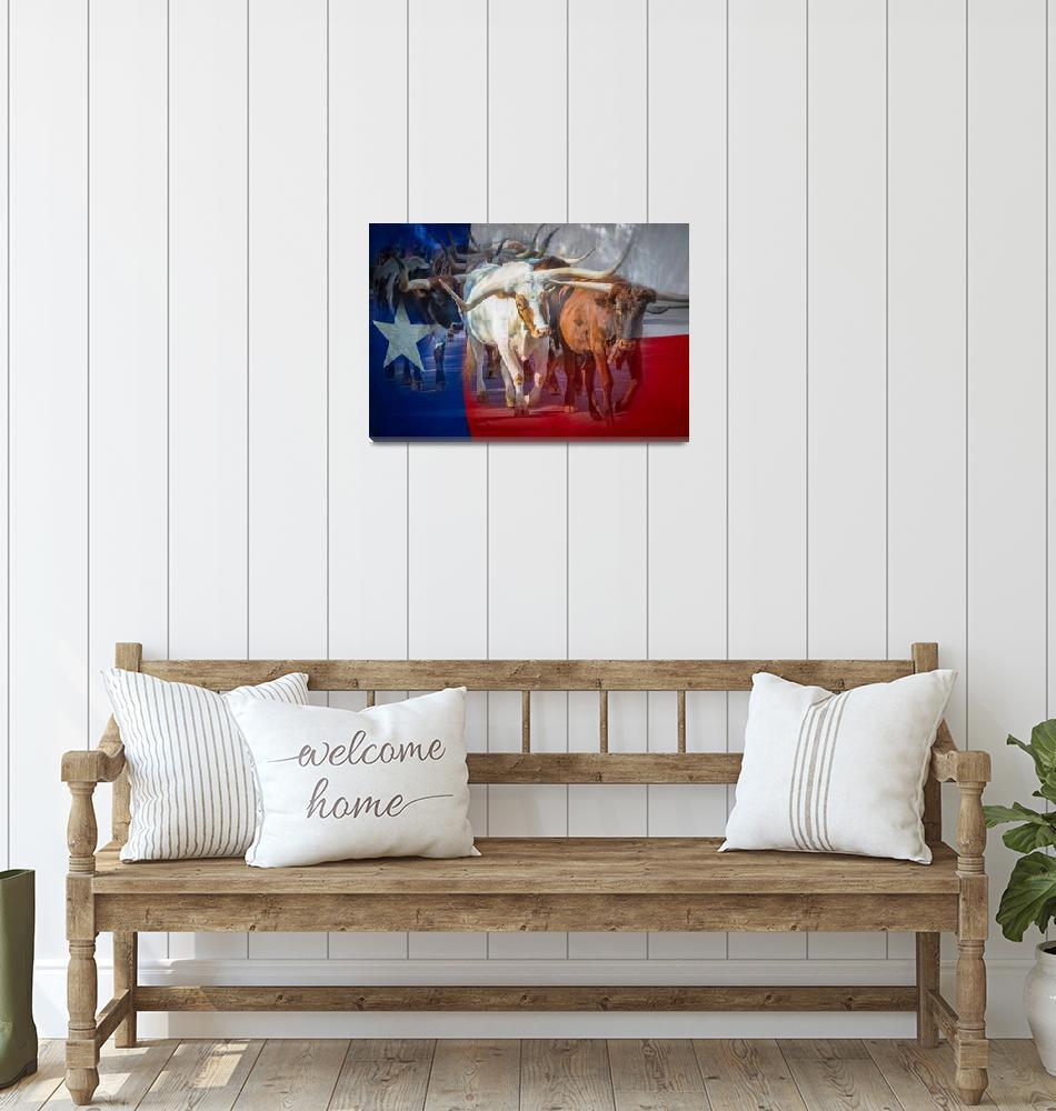 """Texas Longhorns""  (2014) by Inge-Johnsson"