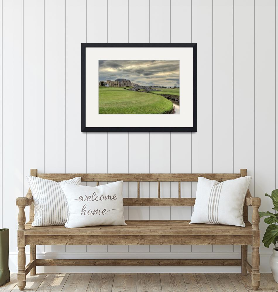 """""""Swilcan Bridge and Old Course Hotel""""  (2009) by skreid"""