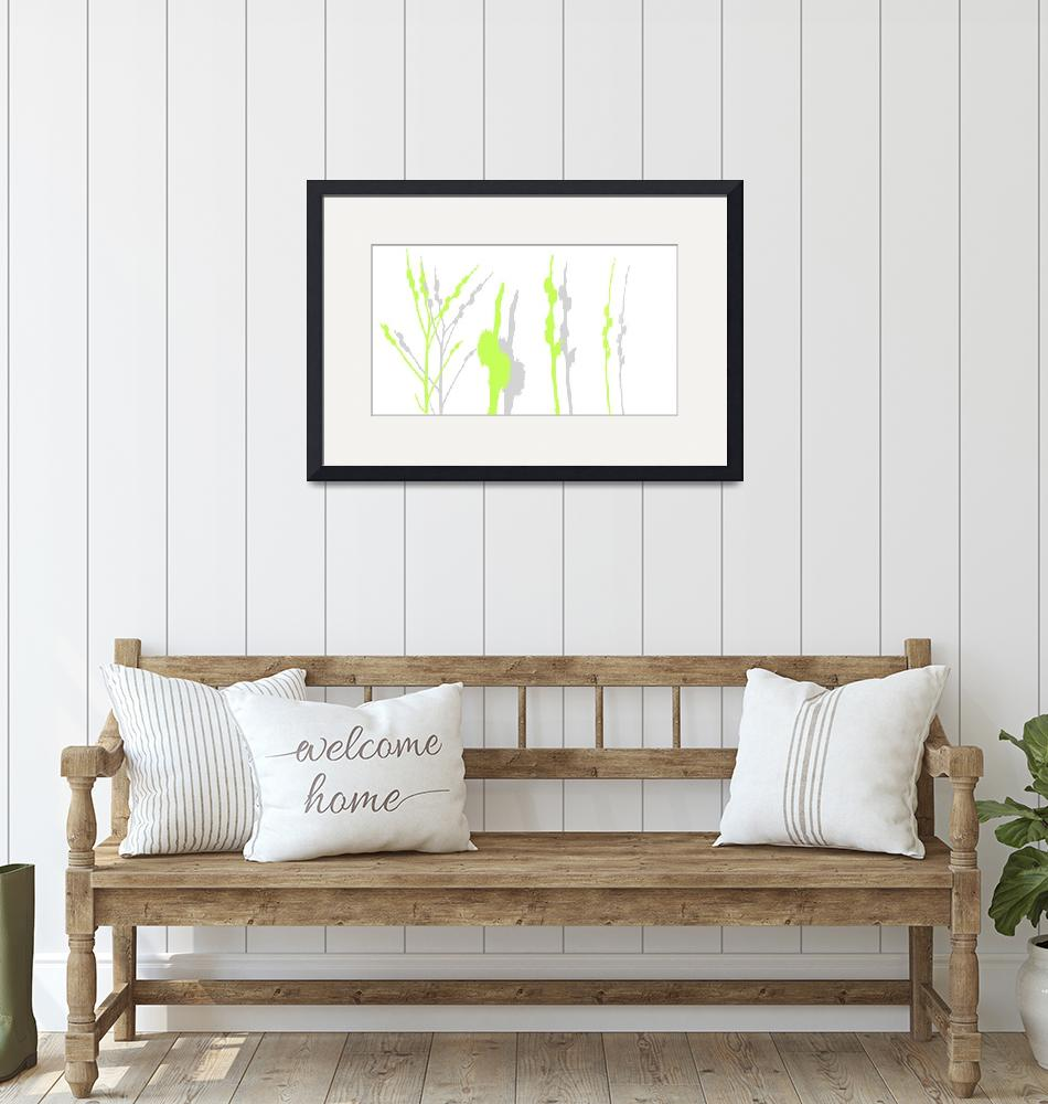 """""""pussy willow lime""""  (2015) by TRELDesign"""