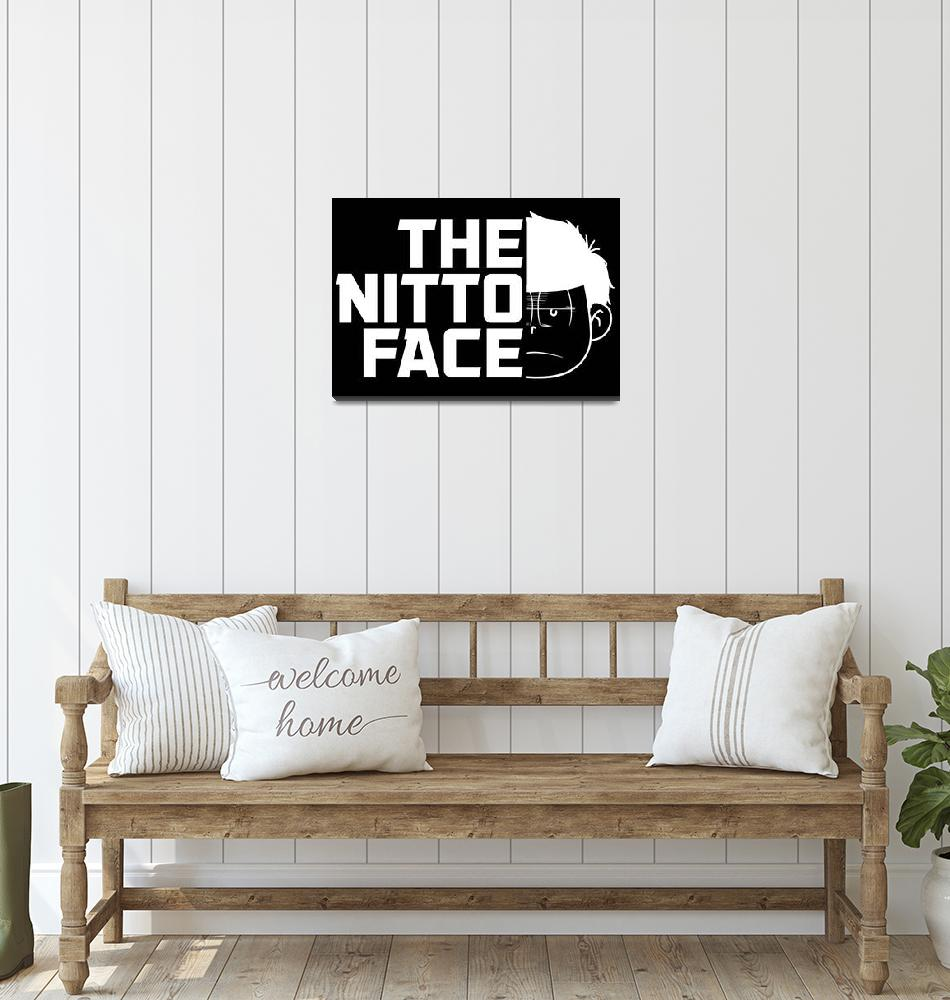 """""""The nitto face black""""  (2018) by psychodeliciashop"""