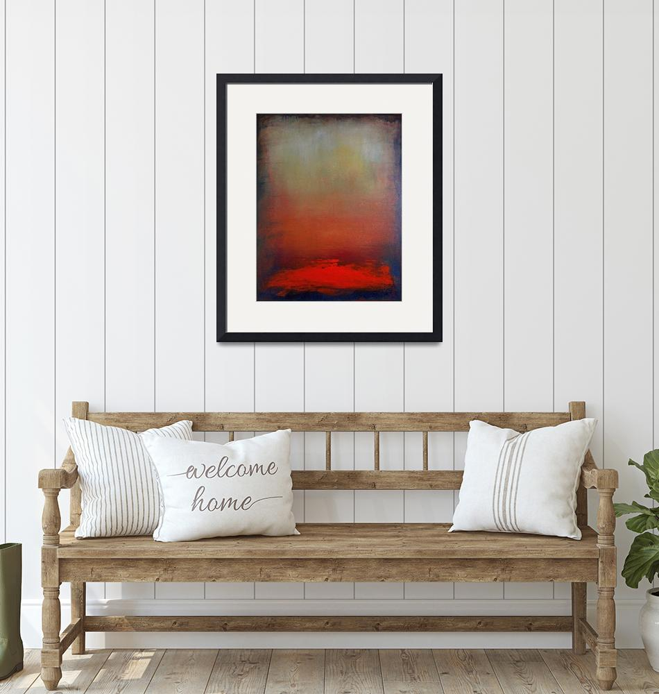 """""""Hazy Abstract Sunset"""" (2008) by kristensteinfineart"""