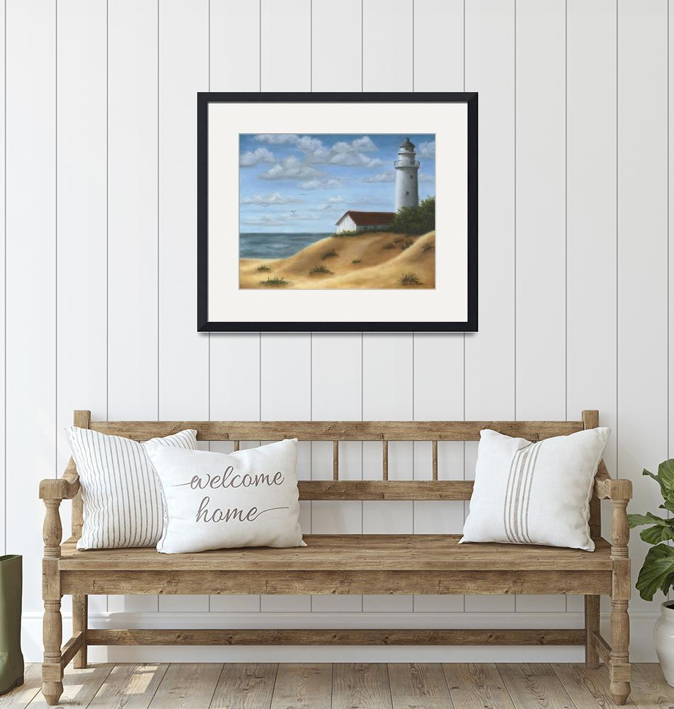 """""""Lighthouse on the Dunes""""  by elainerittler"""