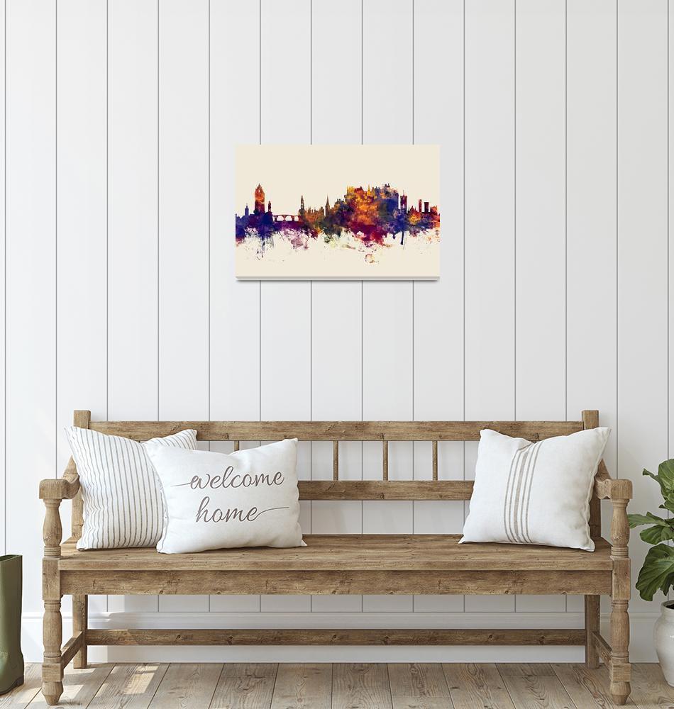 """""""Stirling Scotland Skyline""""  (2018) by ModernArtPrints"""