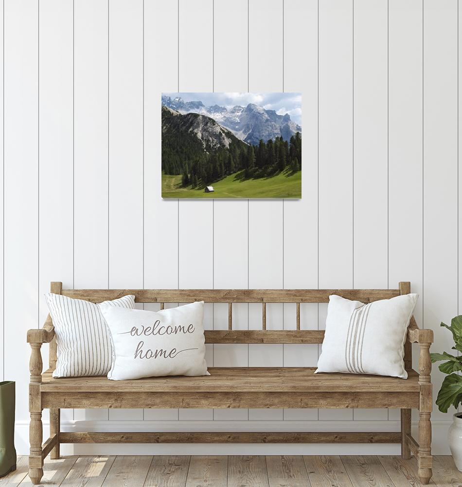 """""""Summer Alpine Meadows And Hut Italy""""  by DesignPics"""
