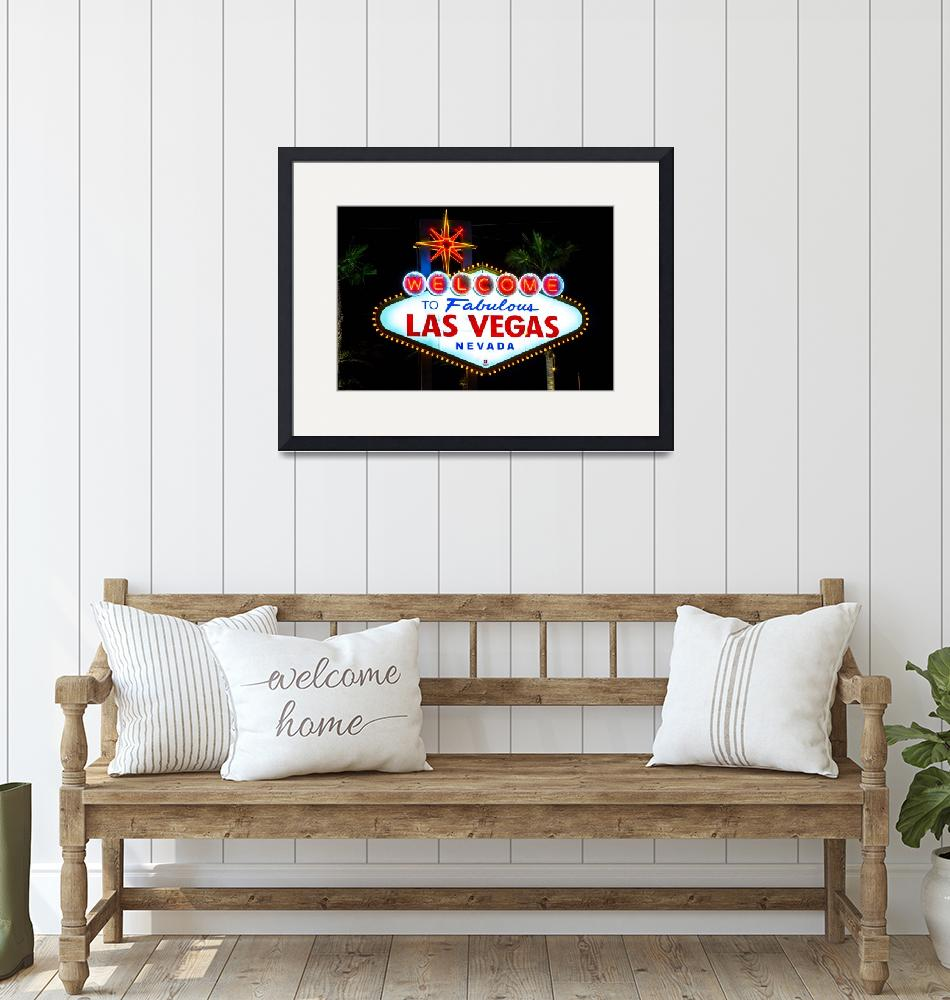 """""""Welcome to Vegas sign night""""  by JohnDaly"""