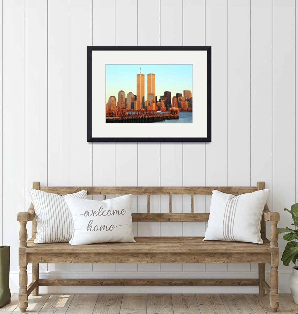 """""""wtc from nj sunset""""  by Kliman"""