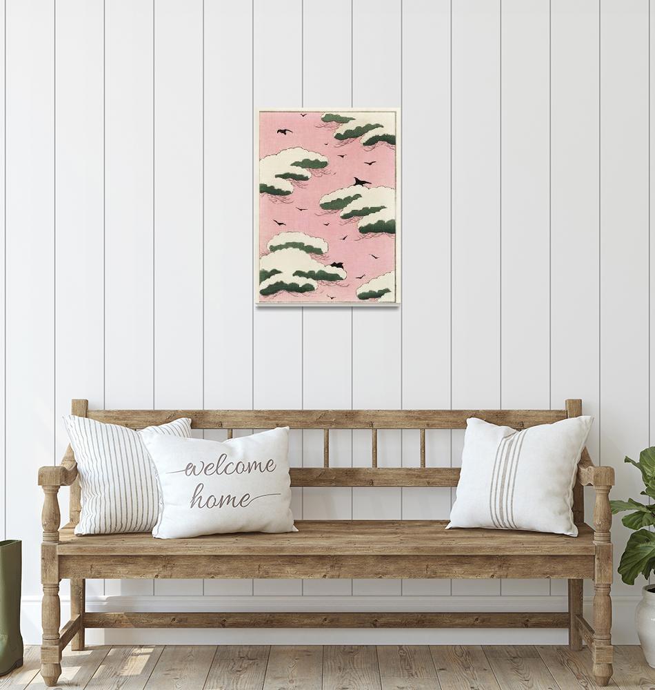 """Pink Sky Illustration by Bijutsu Sekai""  by FineArtClassics"