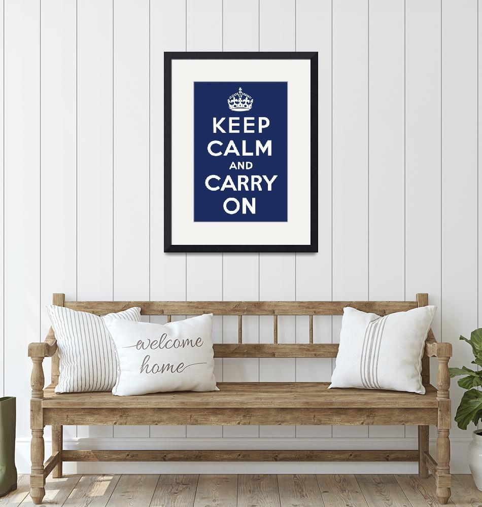 """""""Keep Calm and Carry On (Navy)""""  by jvorzimmer"""