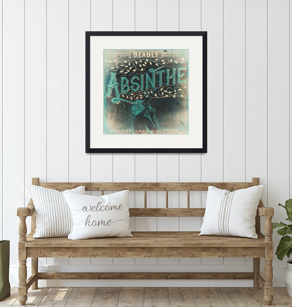 """""""Deadly Absinthe Vintage Label"""" (2018) by MindyDidIt"""