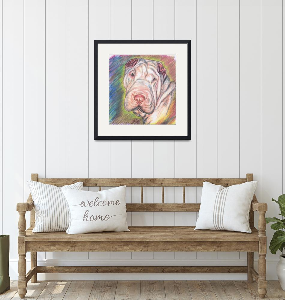 """""""Shar Pei In Color""""  (1997) by InspirationalGifts"""
