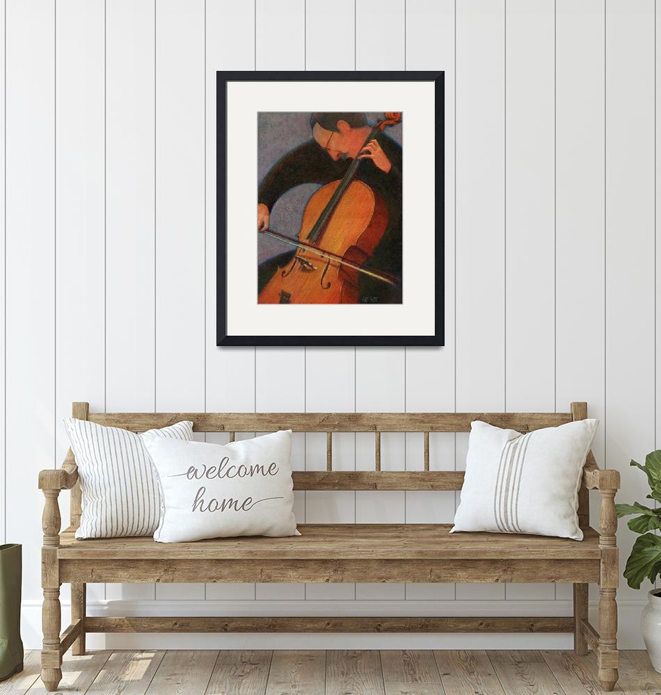 """""""Cello Player""""  by CatScott"""