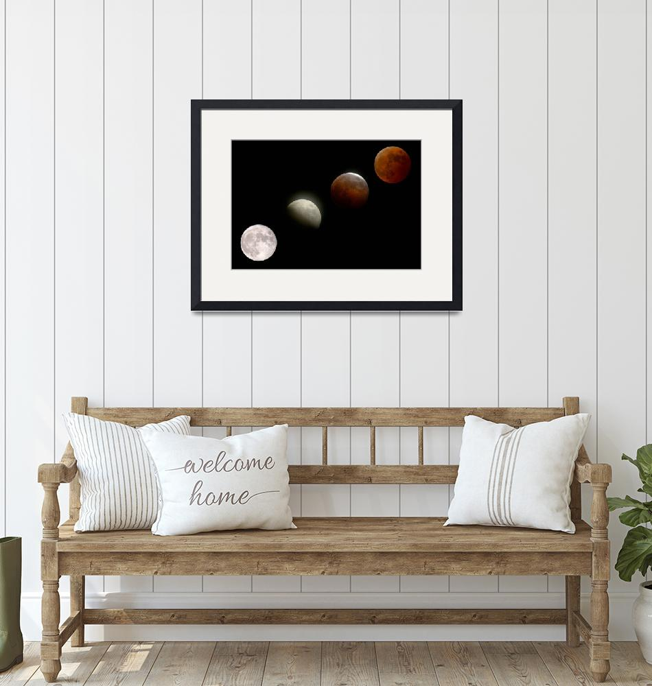 """""""Phases of a Total Lunar Eclipse"""" by fortphoto"""