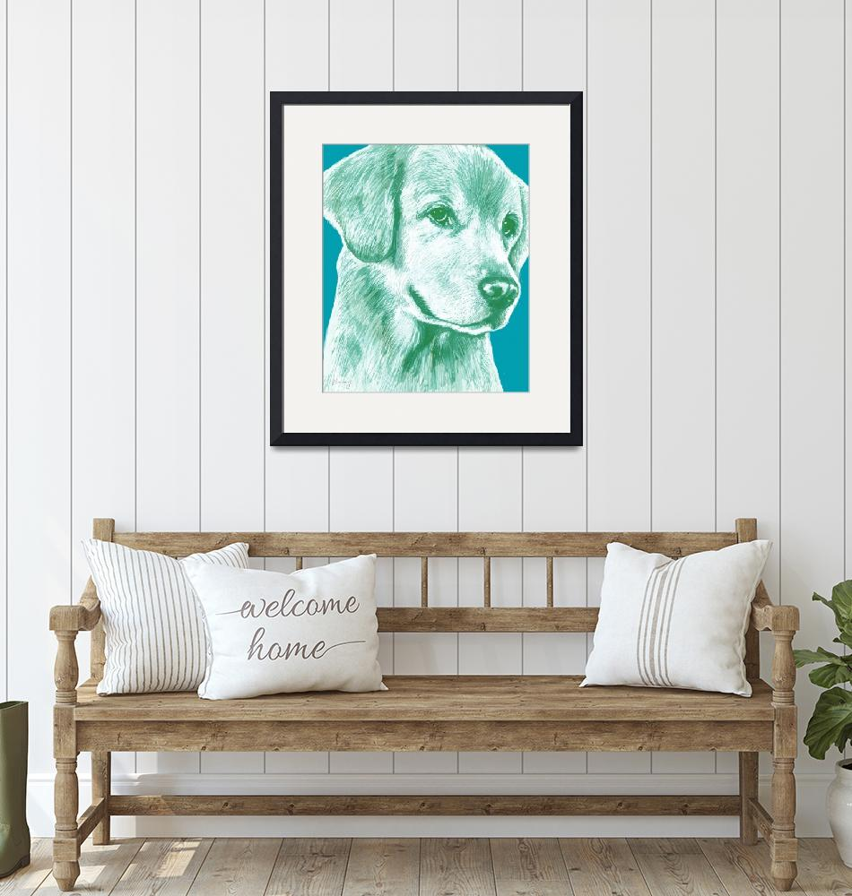 """""""pop art dog  -  stylised drawing poster""""  (2014) by visualharbour"""