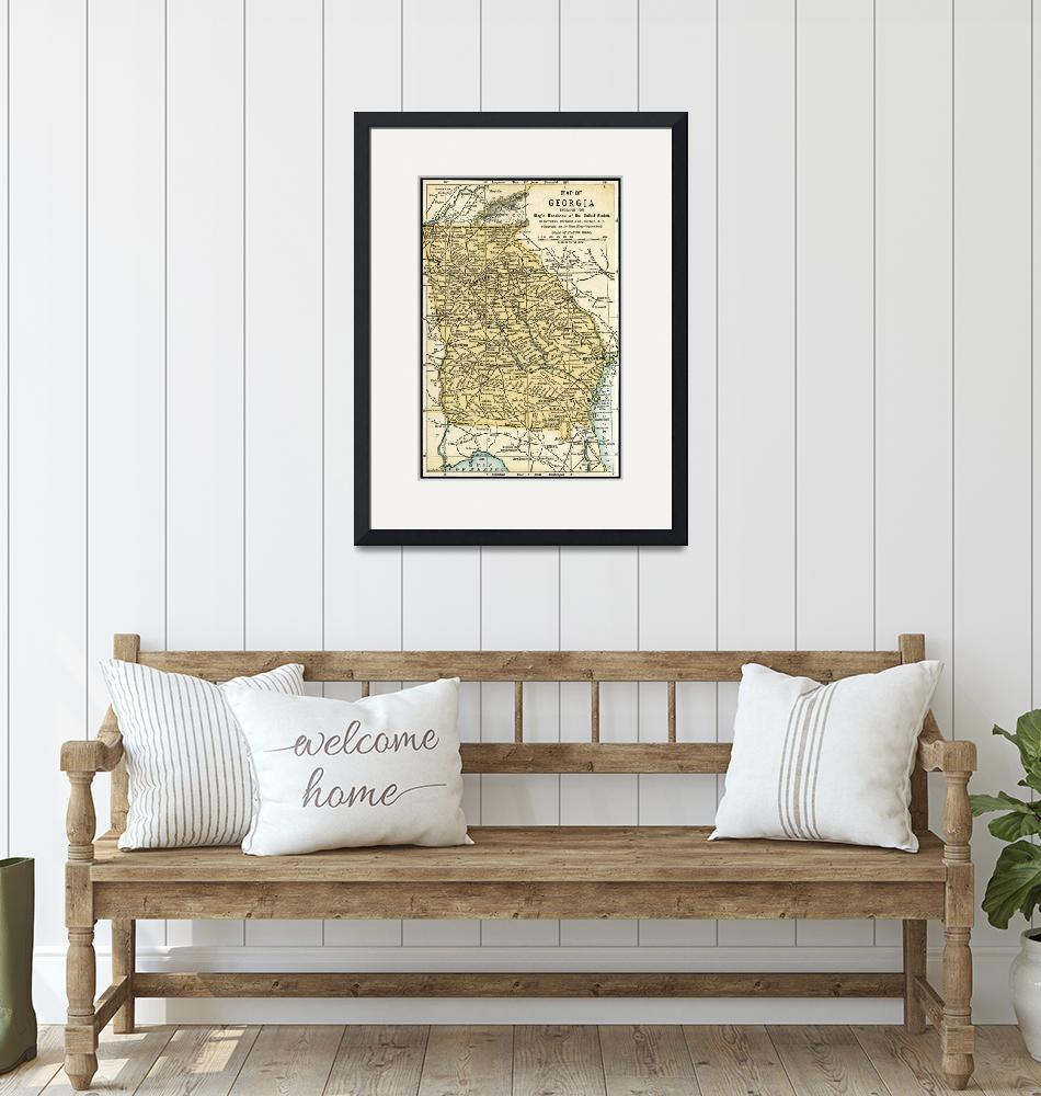 """""""Georgia Antique Map 1891""""  (2015) by WilshireImages"""
