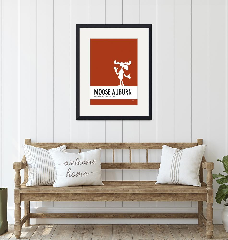 """""""No19 My Minimal Color Code poster Bullwinkle""""  by Chungkong"""