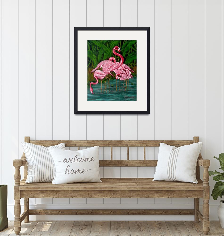 """""""Flamingo""""  (2019) by anthonydunphy"""