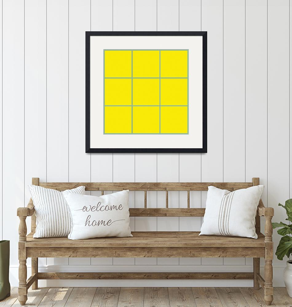 """Yellow Window 095 Canvas Contemporary Modern""  (2010) by Ricardos"
