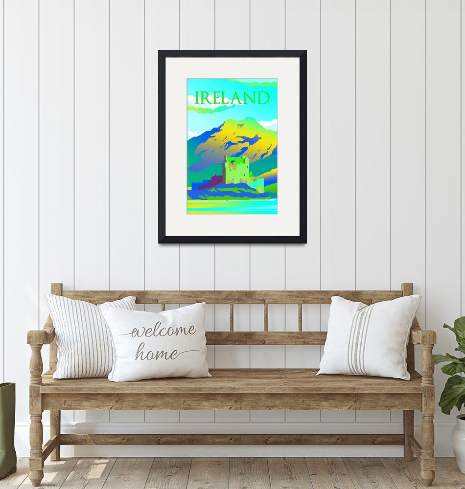 """""""Travel Poster of Ireland 096""""  by Arpina"""