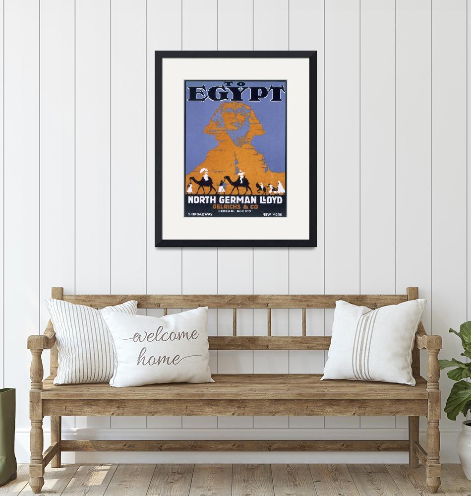 """""""Egypt Vintage Travel Poster""""  by fineartmasters"""