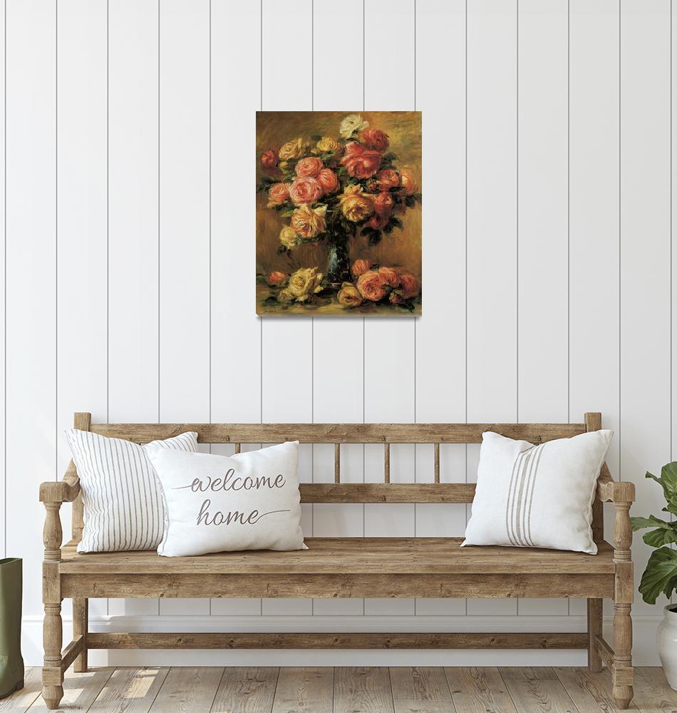 """""""Renoir Les Roses Dans Un Vase""""  by oldies"""