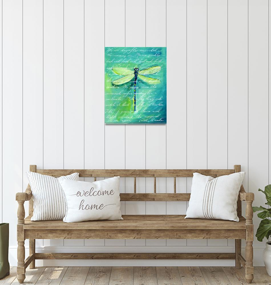 """""""Green Dragonfly""""  (2008) by HandwrittenLife"""
