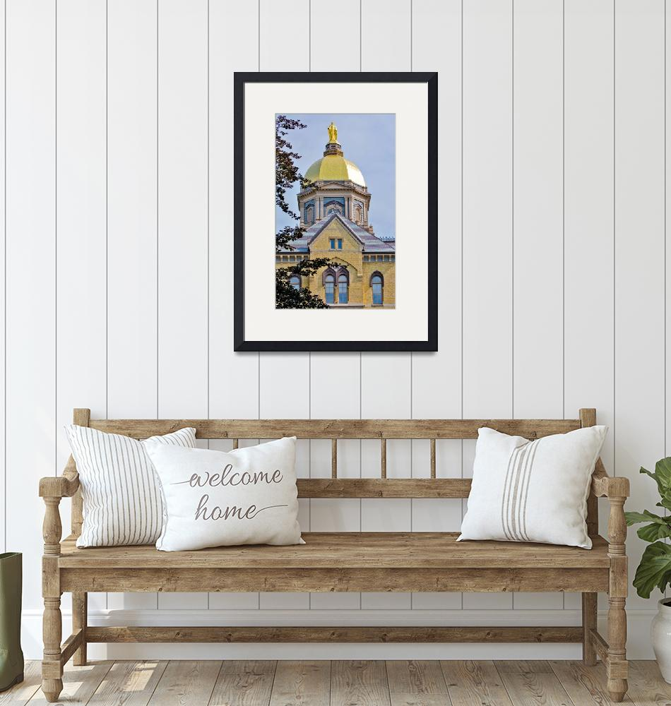 """Notre Dame Gold Dome""  (2009) by lwoodburn"