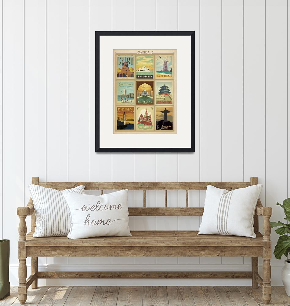 """World Travel Collection II Retro Travel Poster""  by artlicensing"