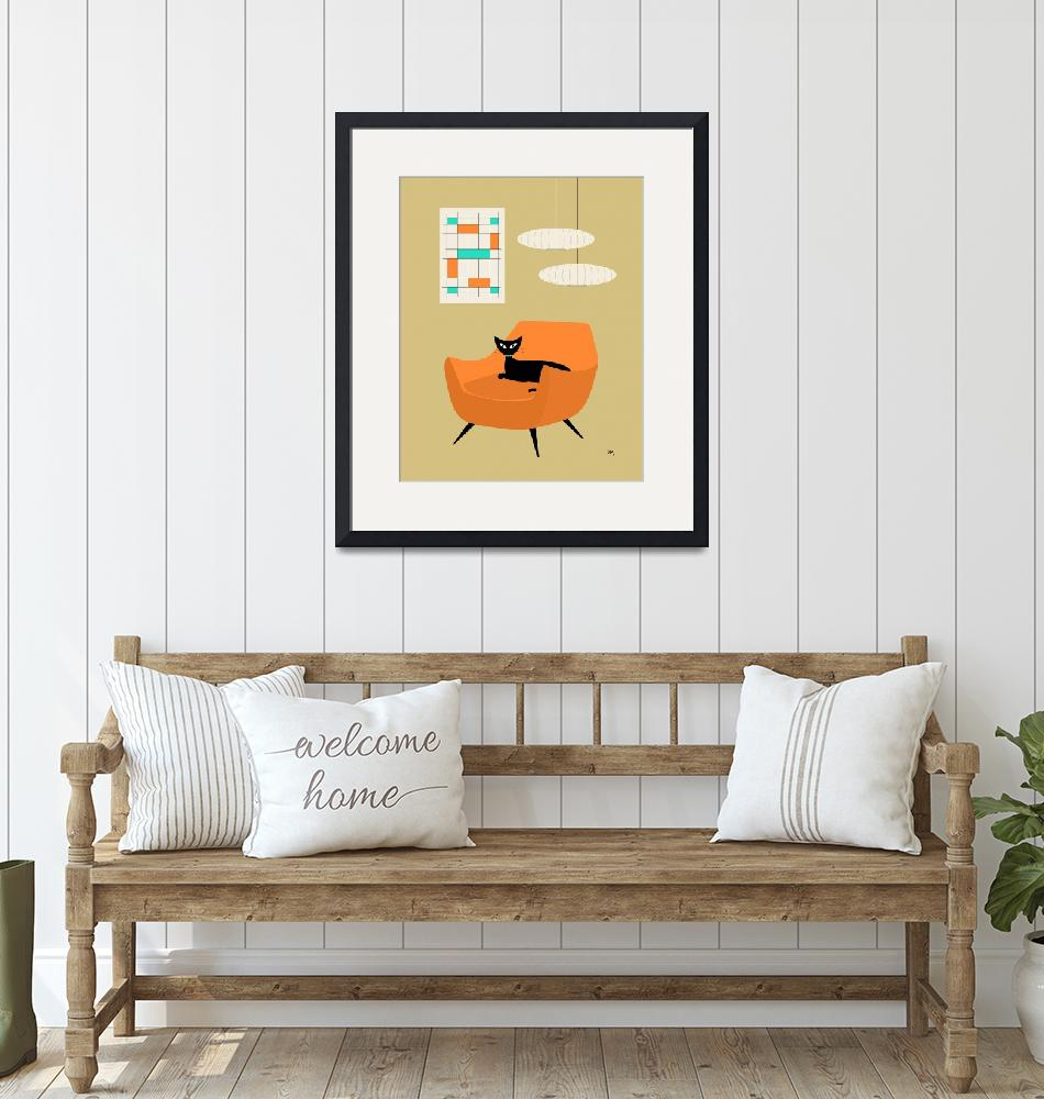 """""""mini abstract orange chair""""  by DMibus"""