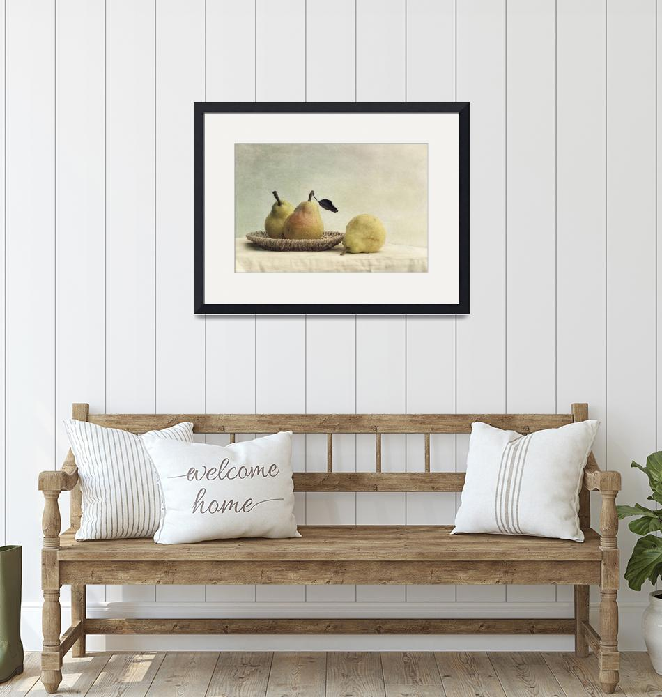 """""""still life with pears""""  (2014) by Piri"""
