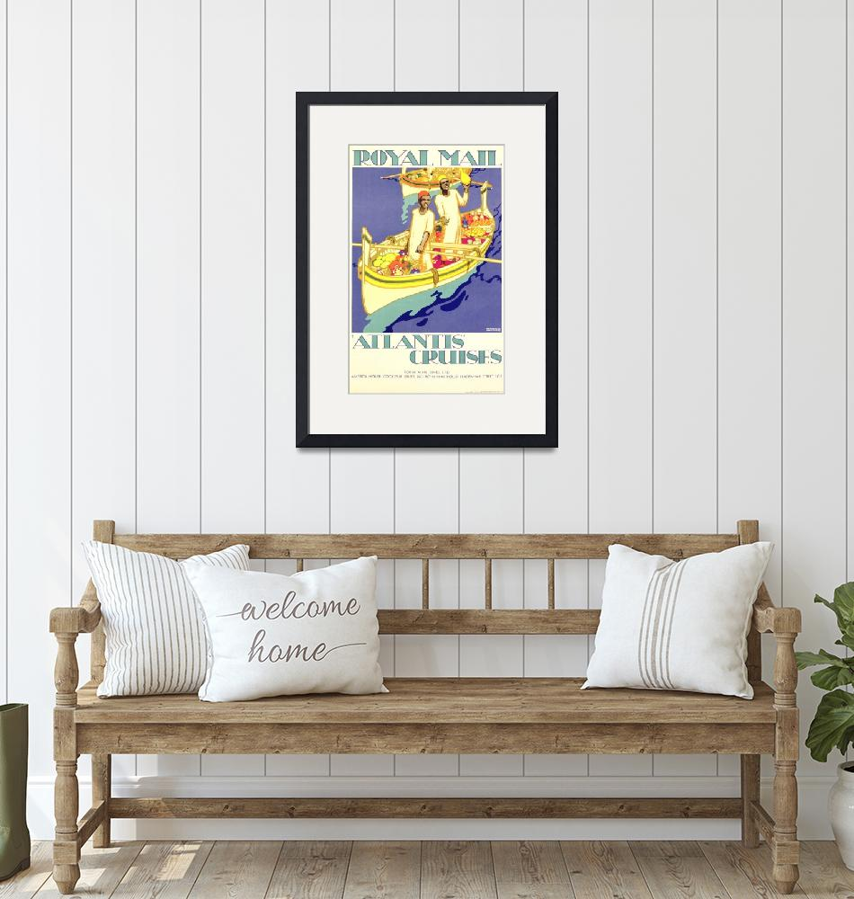 """Royal Mail Vintage Travel Poster""  by FineArtClassics"