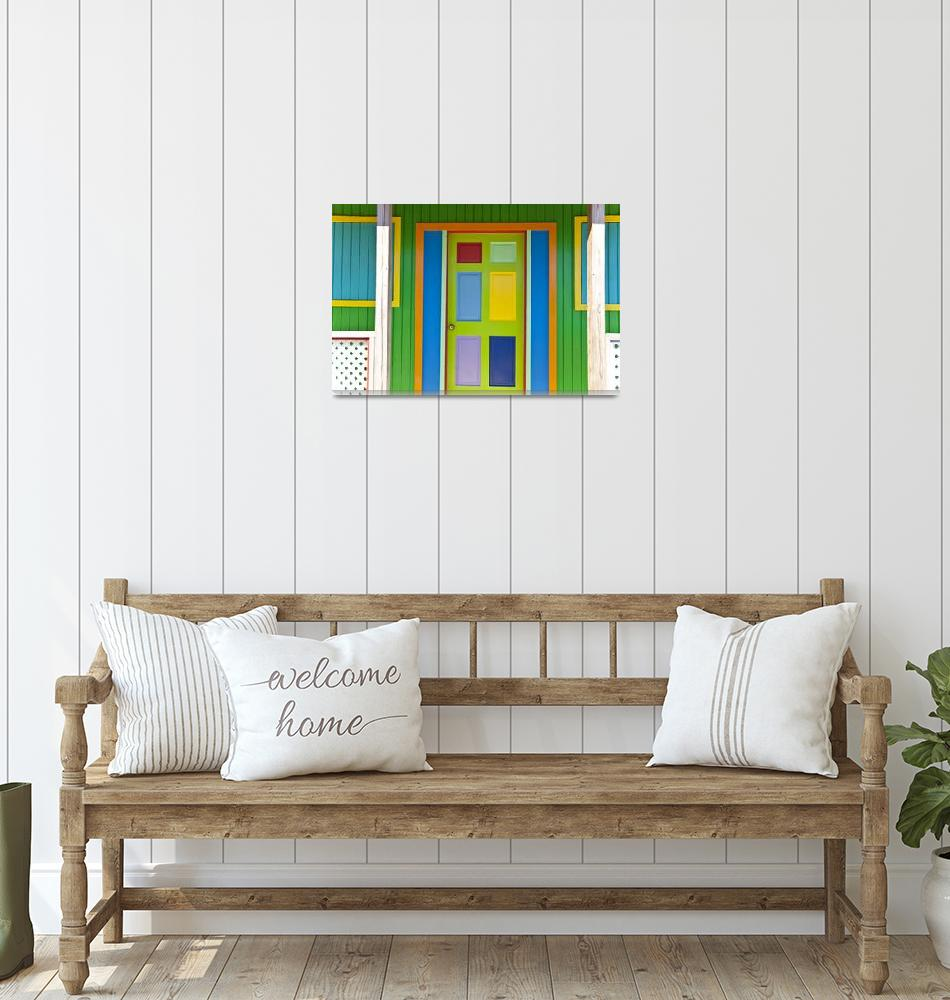 """""""Colorful door in the Bahamas""""  (2010) by midcenturymodern"""