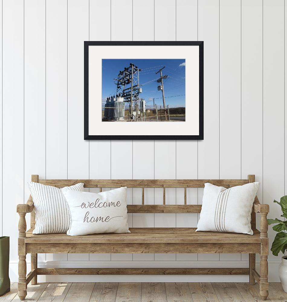 """""""Ameren Substation With Recloser""""  (2012) by TheElectricOrphanage"""