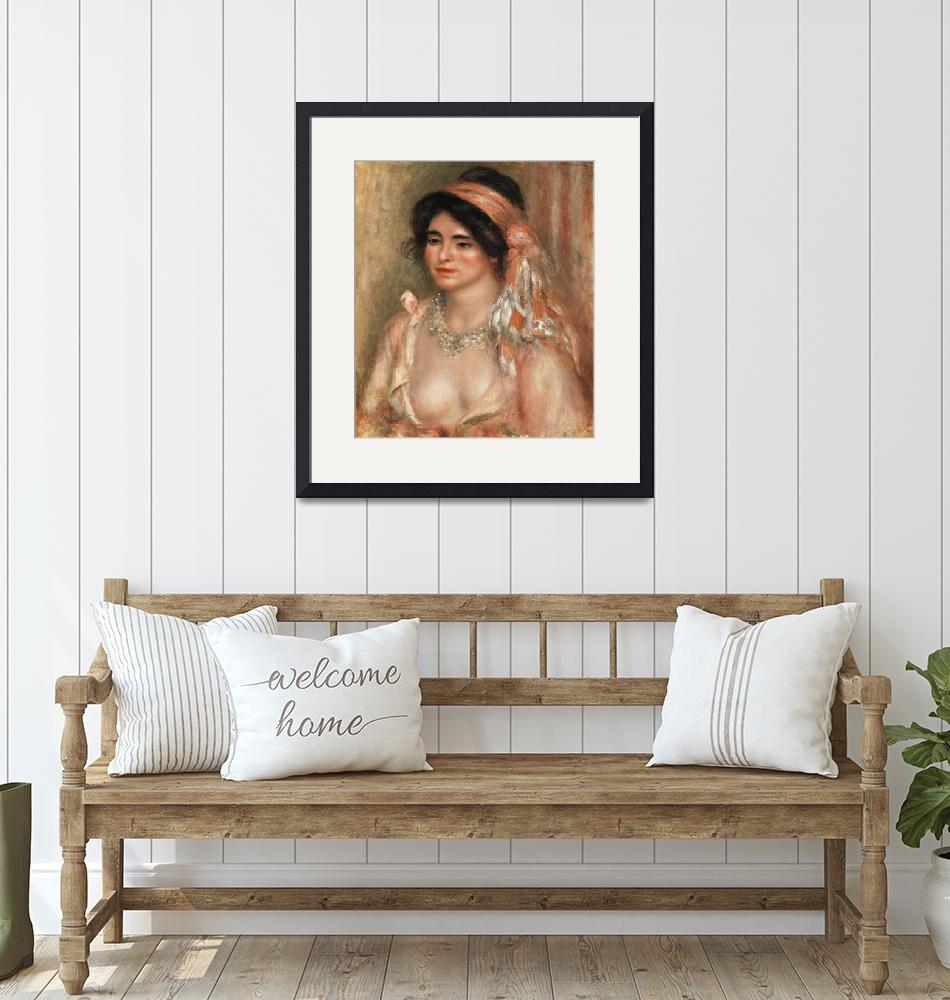 """""""Woman with Black Hair by Renoir""""  by FineArtClassics"""