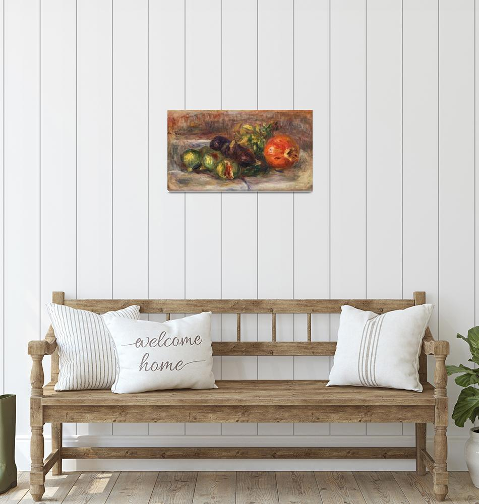 """""""Pomegranate and Figs by Renoir""""  by FineArtClassics"""