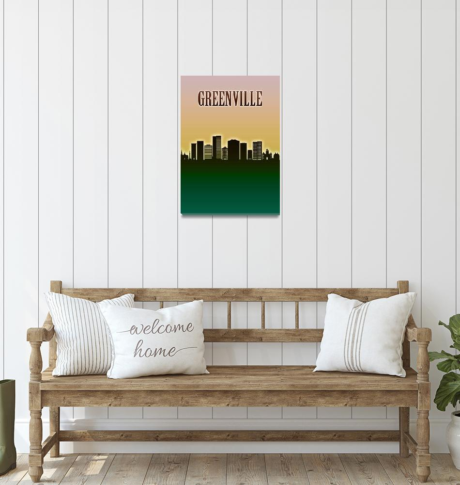 """""""Greenville Skyline""""  by Towseef"""