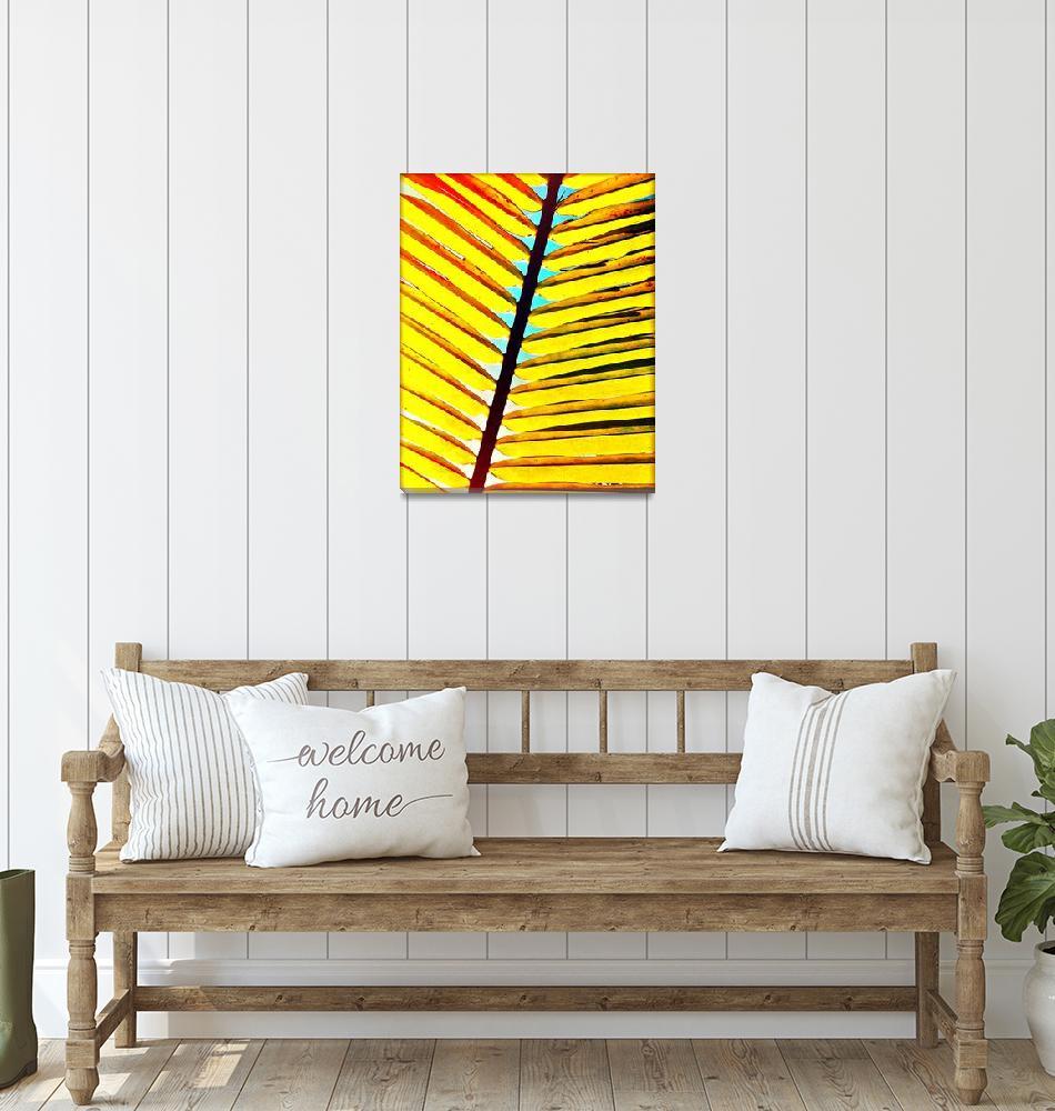 """Surroundings - Palm Leaf""  (2020) by ChrisAndruskiewicz"