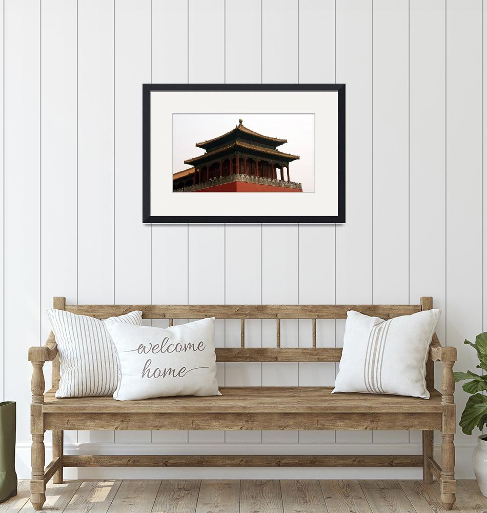 """""""Tower at Forbidden City""""  (2008) by qifaindy"""