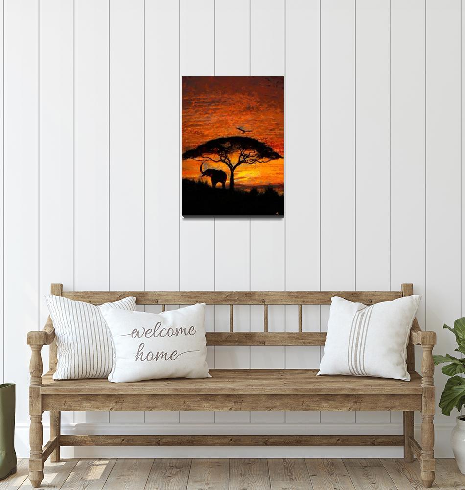 """Sunset in Africa""  (2014) by tinekremser"