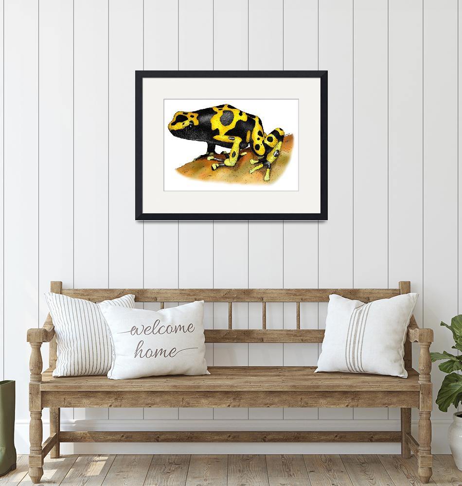 """""""Yellow Banded Poison Dart Frog"""" by inkart"""
