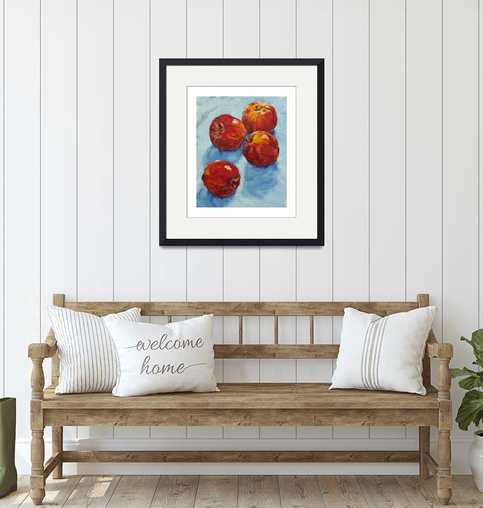 """""""Apples on blue""""  (2008) by davidwesterfield"""