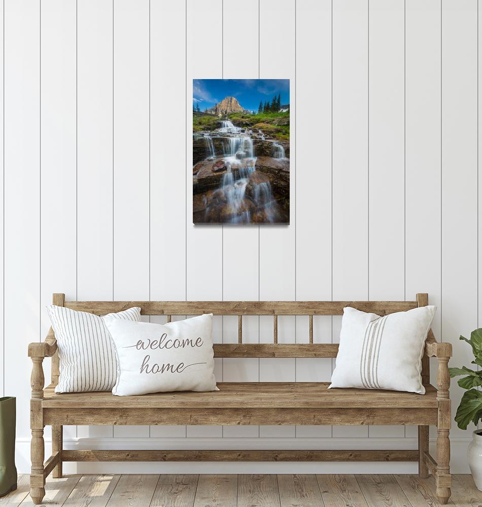 """Reynolds Mountain Waterfall""  (2014) by Inge-Johnsson"