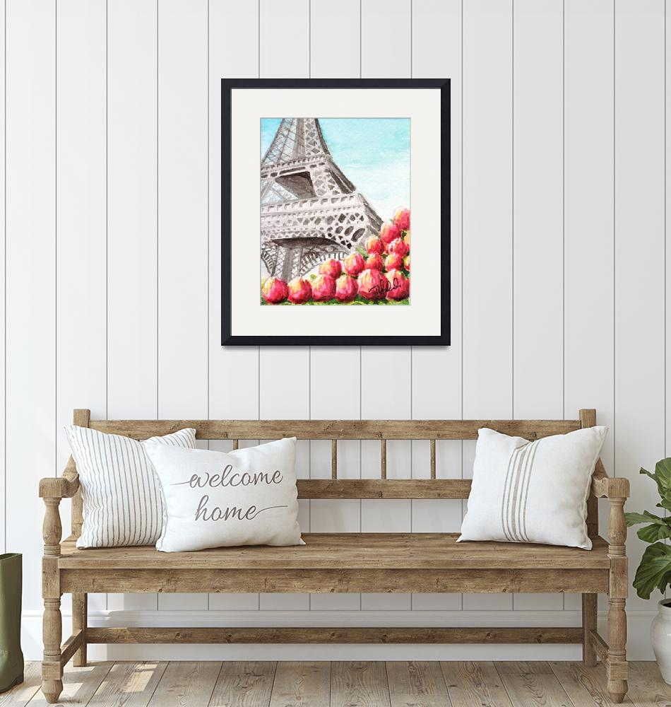 """""""Spring at the Eiffel Tower""""  (2010) by smellyrhinostudio"""