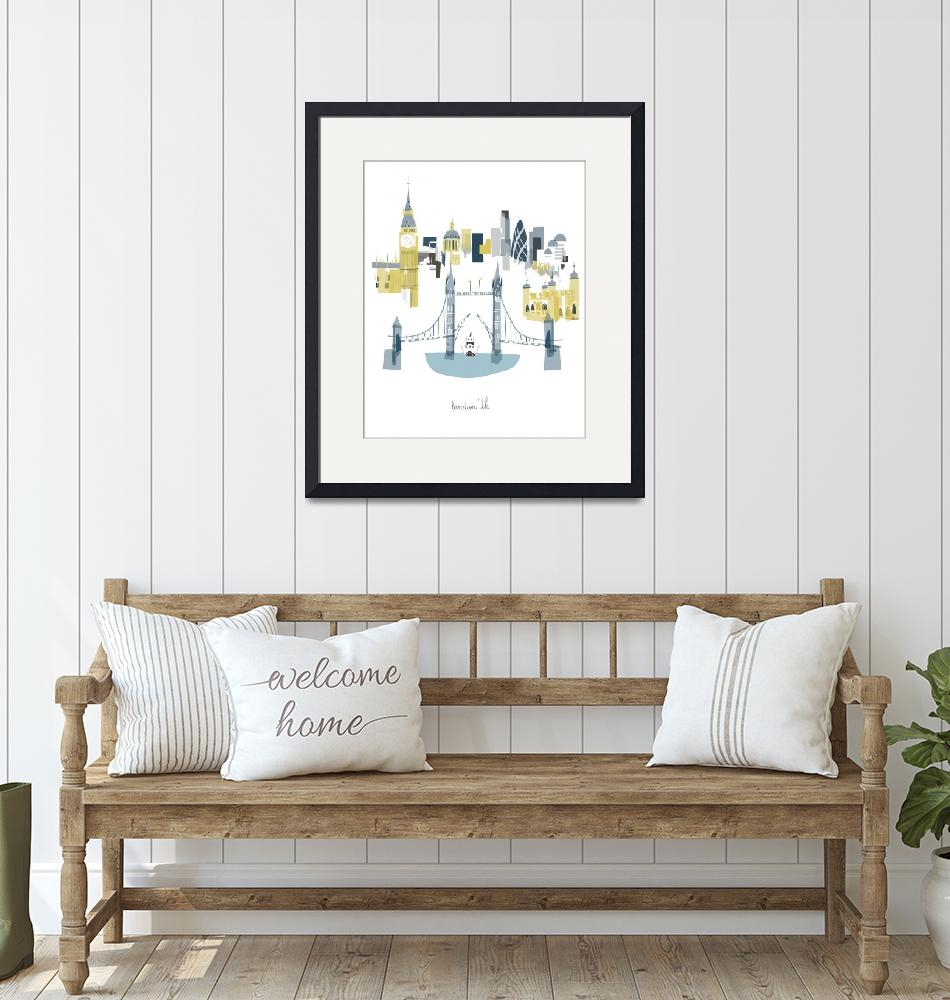 """""""London Modern Cityscape Illustration""""  by AlbieDesigns"""