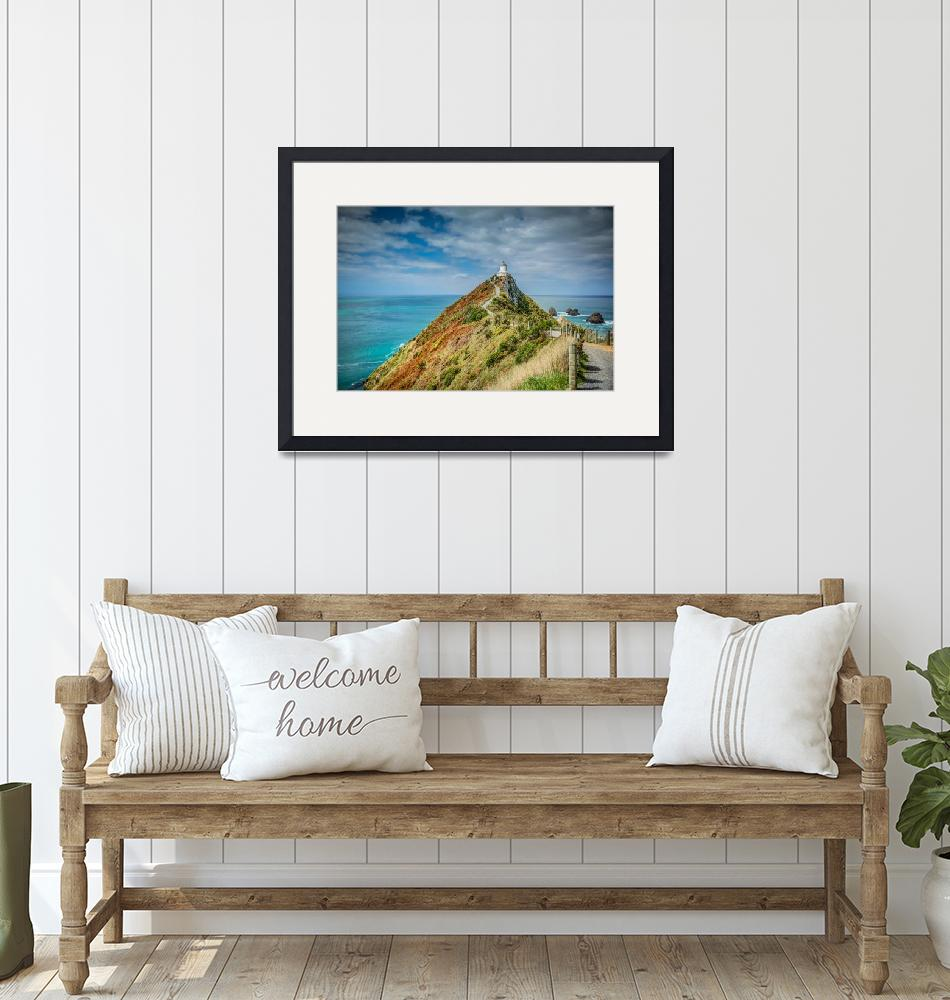 """""""Nugget Point Lighthouse""""  (2015) by thomaskey"""