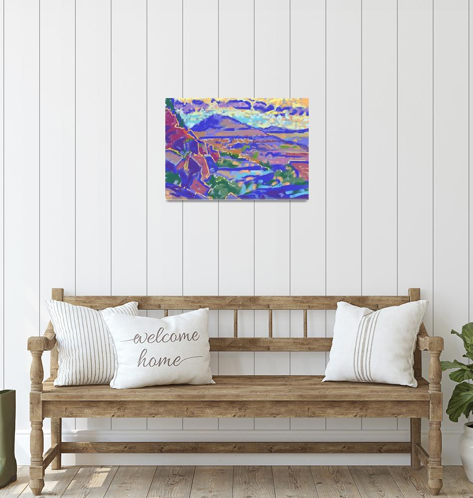 """Land and Light, Sedona (computer art)""  by fineartmasters"